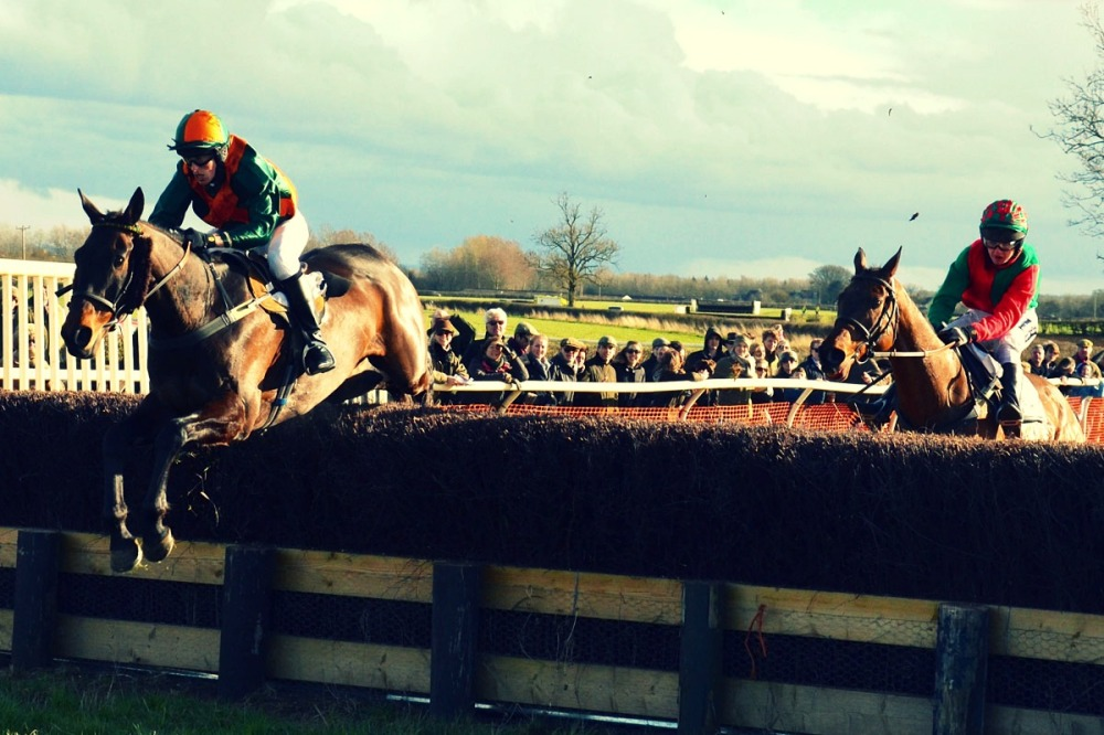 Barnaby-Shaw-rides-Bravery-Scotch-over-the-final-hurdle-at-Siddington-Point-to-Point